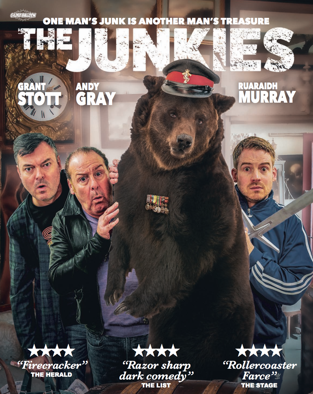 Ruaraidh Murray The Junkies starring Grant Stott and Andy Gray Directed by Ryan Dewar by Gilded Balloon